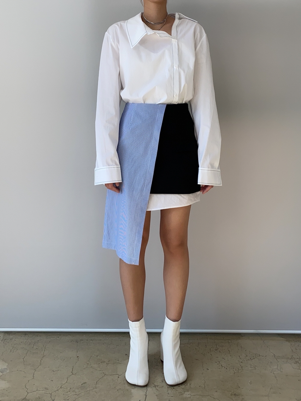 NEW SHIRT LAYERED SKIRT