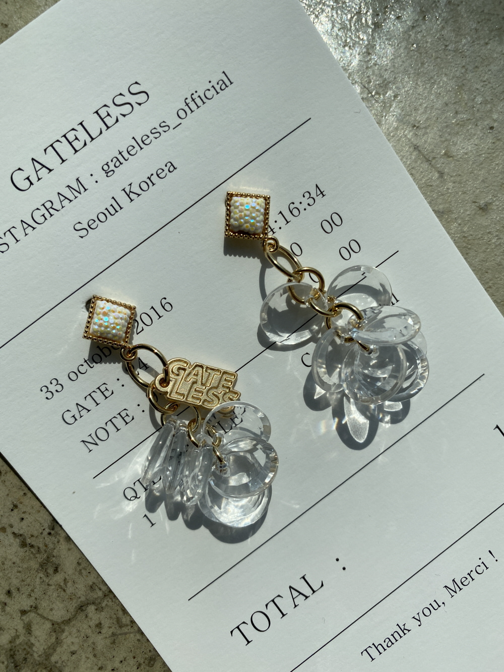 SMALL CRISTAL FRUIT EARRING
