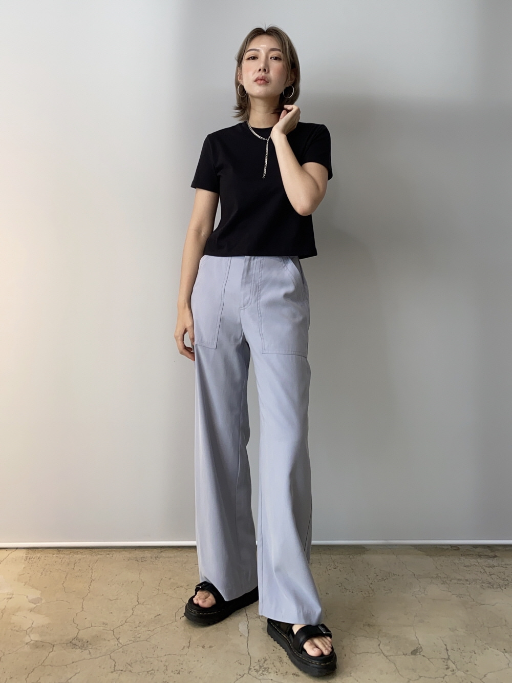BIG POCKET STITCH PANTS
