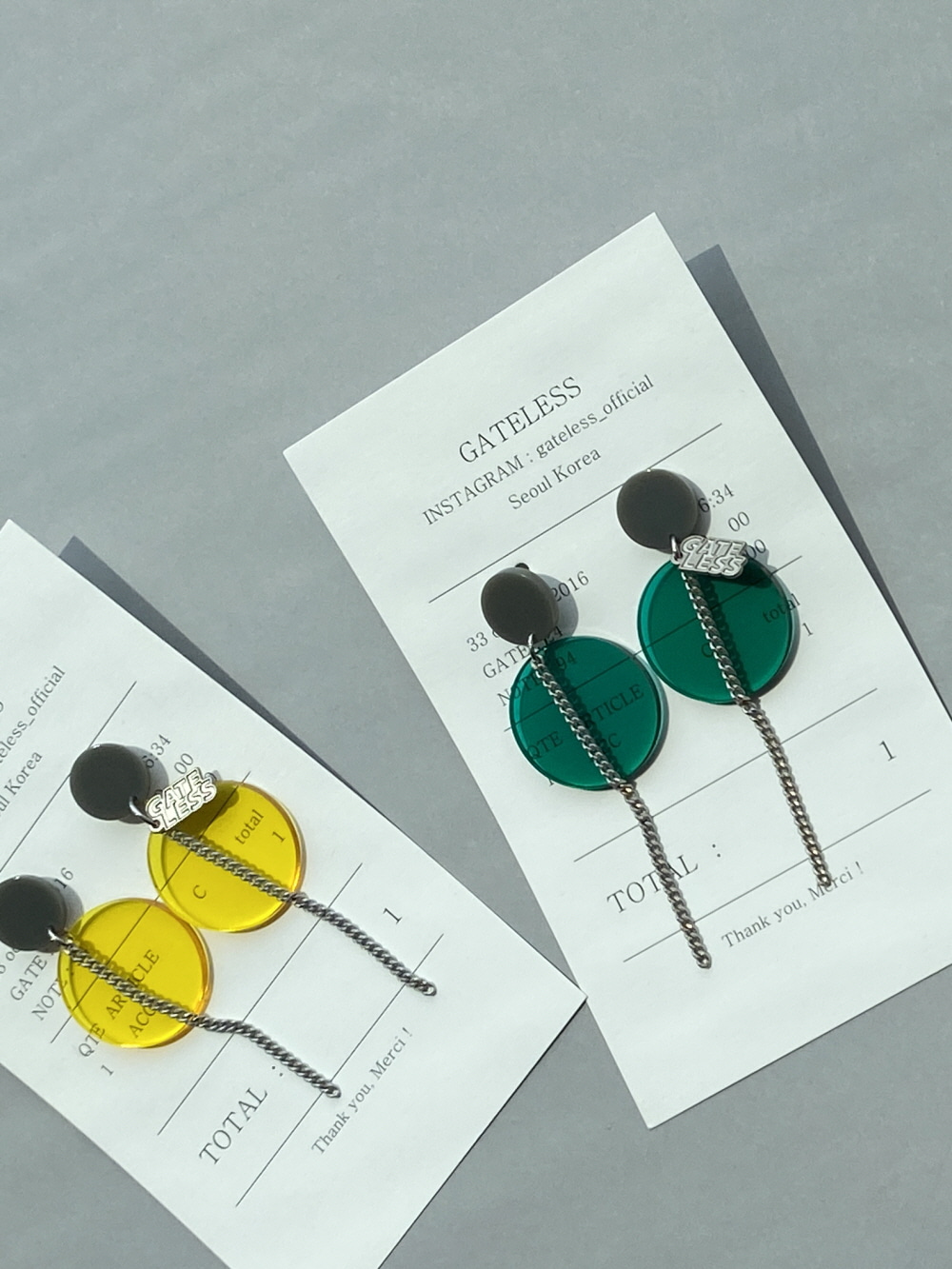 CIRCLE CHIP EARRING